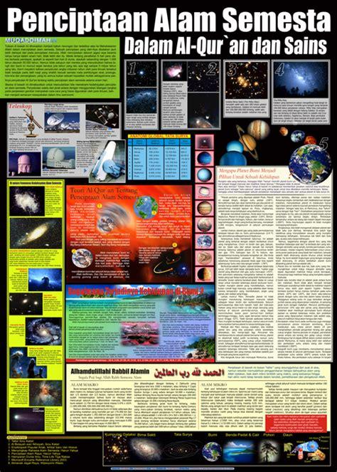 Poster Dahsyatnya Penciptaan Langit Bum penciptaan alam semesta dalam al quran dan sains gudang poster islam