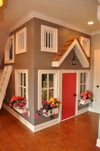 Playhouse Doors And Windows Decor Cool Bed Indoor Playhouse Indoor Playhouse Awesome House And Kid