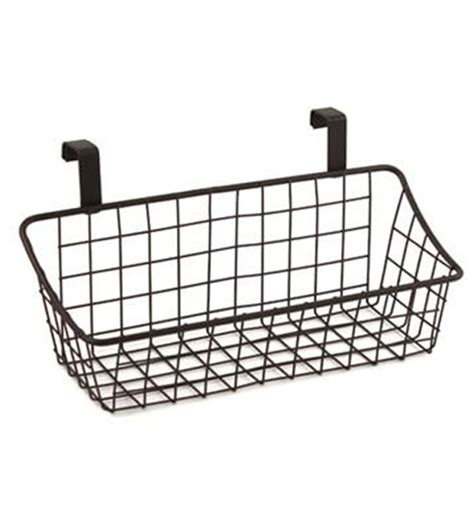 Cabinet Door Storage Basket Bronze In Cabinet Door Cabinet Door Storage Basket