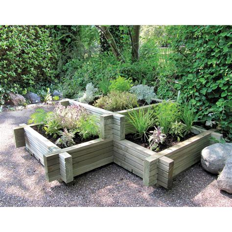 planter beds wooden corner planter 3 tier planter bed 3x3 ft timber