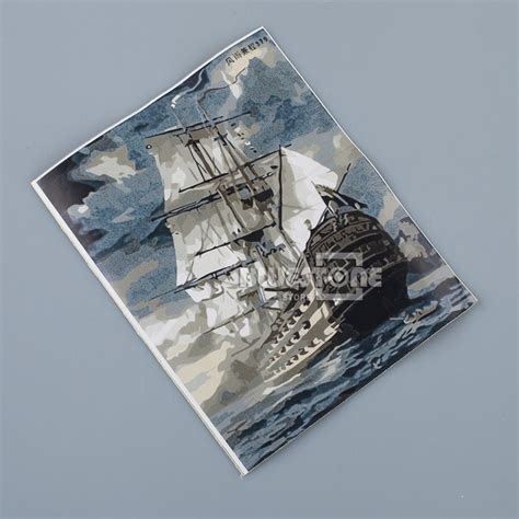 diy boat paint kit sailing boat ship oil painting on canvas diy paint by