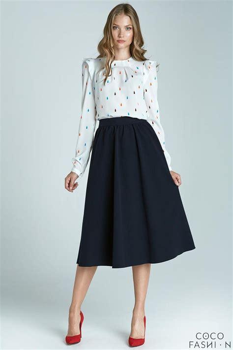 navy blue prom pleated midi skirt