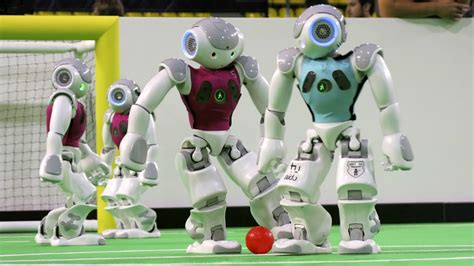 Dribling Robot Soccer Robot robotic soccer players compete at 2015 robocup world chionship