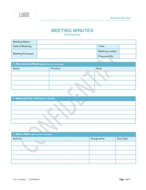 weekly staff meeting minutes