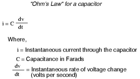 capacitor circuit equations capacitor tutorial capacitorx