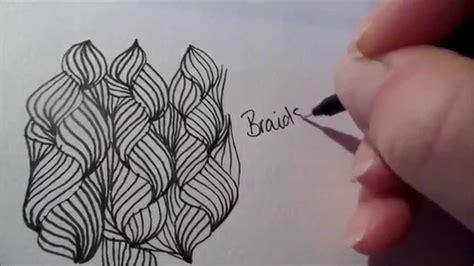 zentangle braid pattern how to draw tanglepattern braids youtube