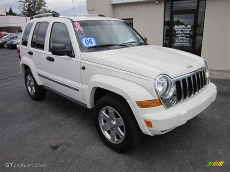 jeep white liberty 2006 white jeep liberty limited 4x4 55365037 photo
