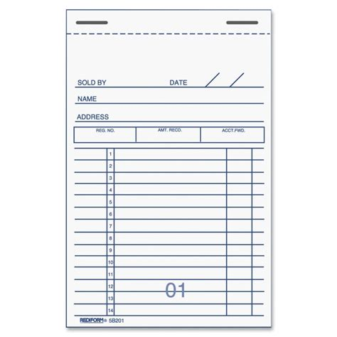 receipt book template rediform 5b201 sales receipt books 50 sheet s 2 part