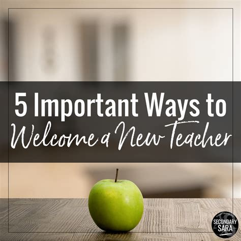 5 Ways To Welcome by Five Important Ways To Welcome A New Secondary