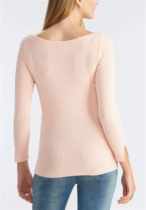 boat neck ribbed sweater ribbed boat neck sweater pullovers cato fashions