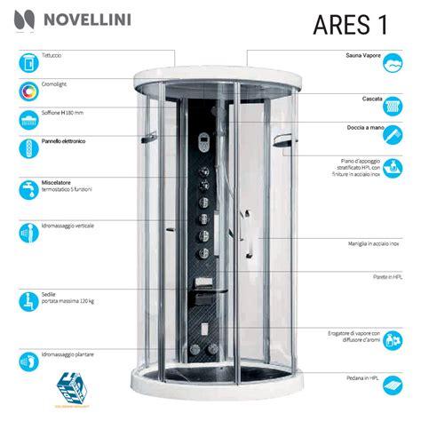 docce idromassaggio novellini novellini ares 1 cabina doccia con sauna e idromassaggio