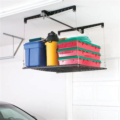 Garage Storage Hoist Platform Garage Overhead Storage Lift Woodworking Projects Plans