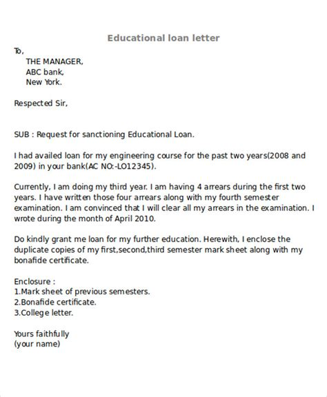 request letter for bank education loan resume relevant coursework listing cover letter