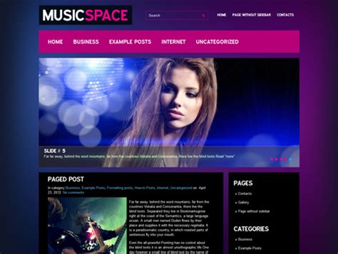 themes wordpress music 8 free music wordpress themes for bands singer and musicians