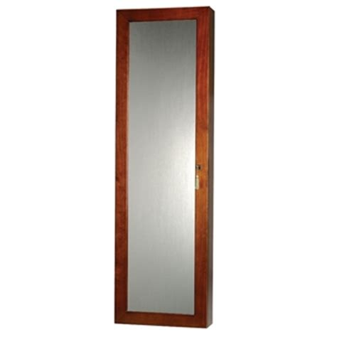 Wall Mirror Jewelry Armoire by Locking Wall Mounted Jewelry Armoire Mirror Large Storage