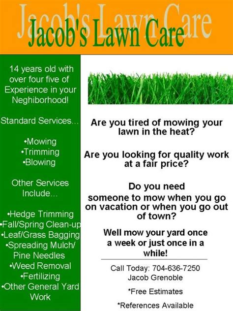 creative idea landscaping flyers lawn service flyer templates