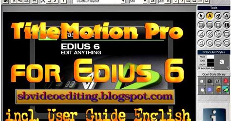 canopus edius 4 pro full version free video editing software edius 6 plugins download