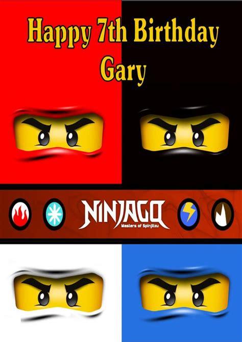 printable lego happy birthday cards personalised lego ninjago birthday card
