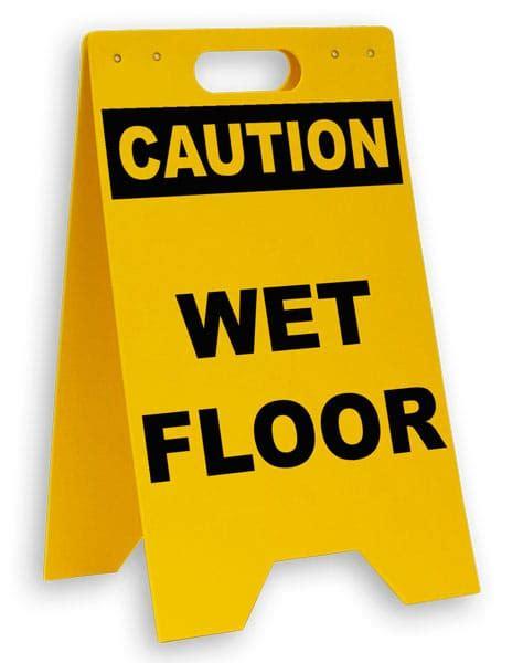 Caution Wet Floor Floor Sign P  Safetysigncom