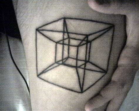 tattoo 3d cube cube in cube tattoo tattoomagz