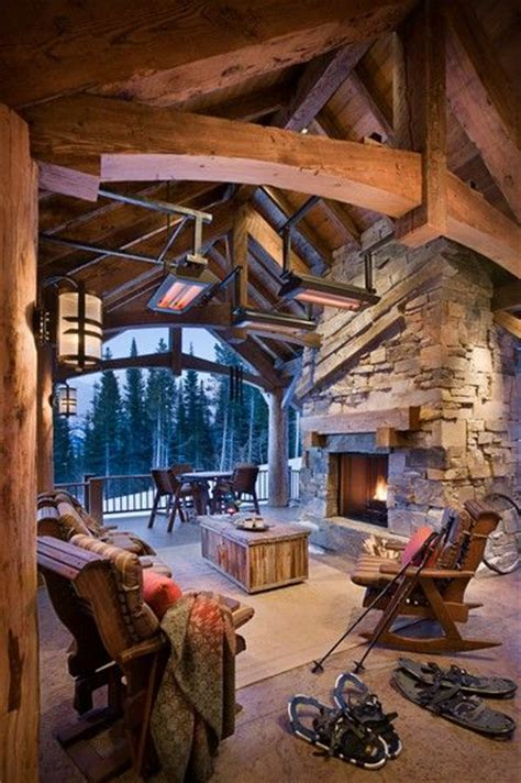 love this porch log cabin lodge pinterest blockhaus innenr 228 ume holzh 252 tten and h 252 tten on pinterest