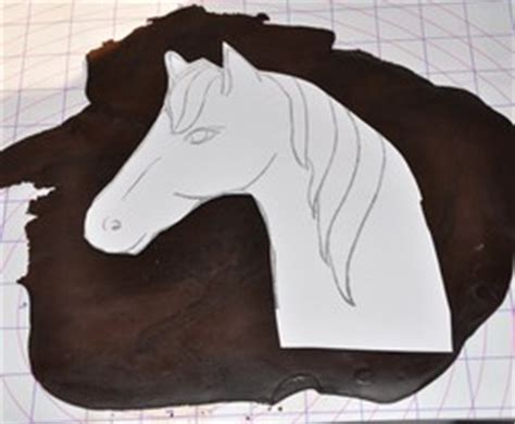 pony cake template cake decorating patterns