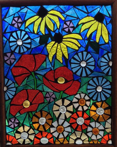 stained glass l poppies stained glass panel t