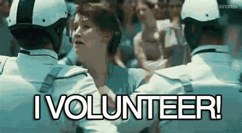 I Volunteer As Tribute Meme - i volunteer jennifer lawrence gif find share on giphy