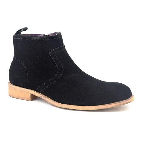 zip up boots for find mens black suede zip up boots gucinari design