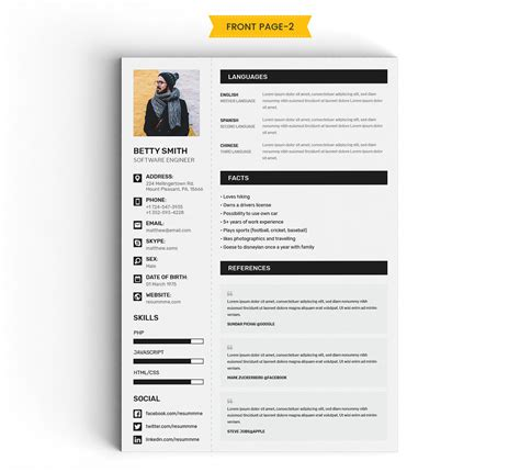 Resume Portfolio Template by Lovely Resume Portfolio Template Creative Resume Cv