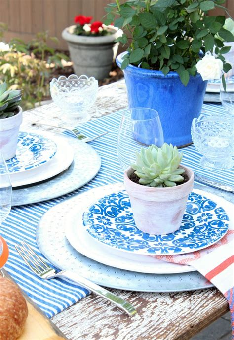 outdoor table setting flea market style outdoor table setting satori design