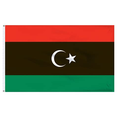 flags of the world libya 5ft x 8ft old libya flag