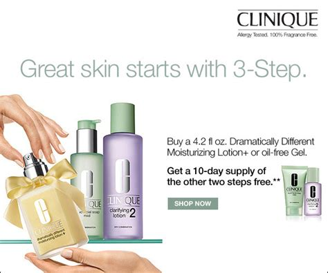 Clinique 3 Step bonton clinique 3 step great skin starts here milled