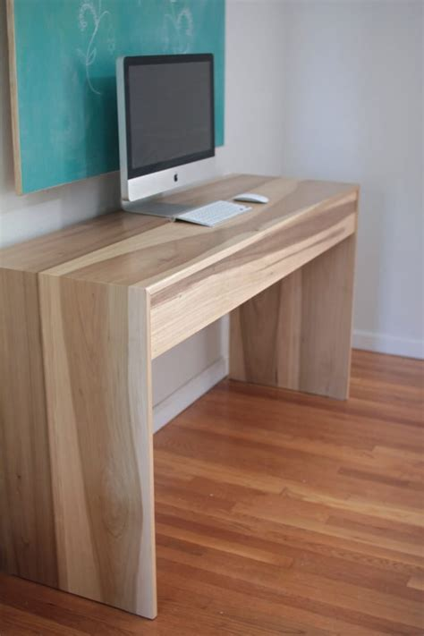 Desk Waterfall by Minimalist Wood Waterfall Desk W Drawer Yelp