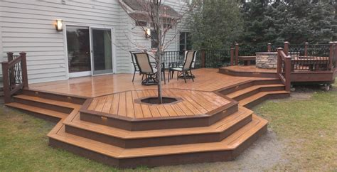 pit wood deck protection deck design and ideas