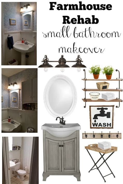 Ideas For Small Bathrooms Makeover by Farmhouse Rehab Small Bathroom Makeover