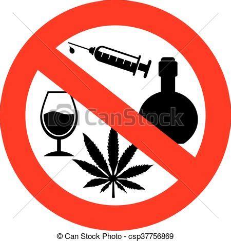 clip art de vectores de drogas, no, alcohol, señal no