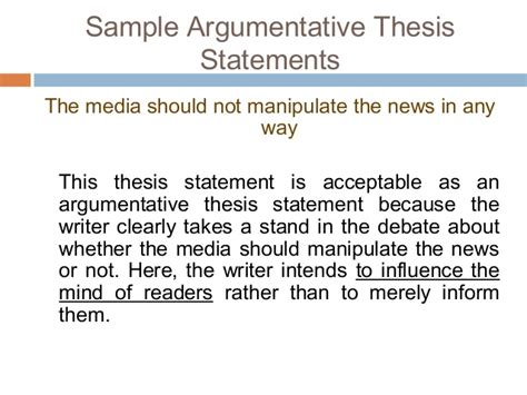 thesis statement argumentative essay personal experience narrative