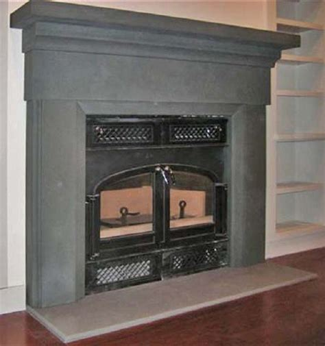 new york blue custom milled fireplace traditional