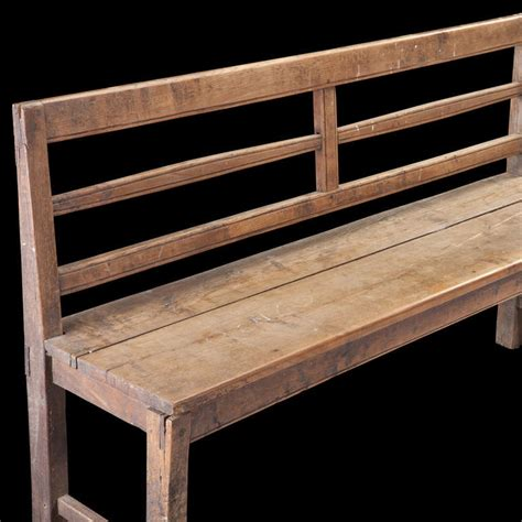 long wood bench primitive long wooden bench at 1stdibs