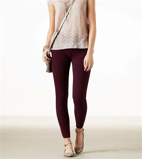 knit jeggings crushed berry ae knit jegging i just got this jeggins