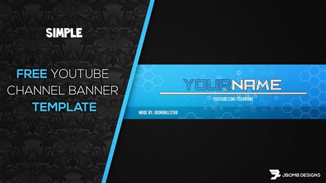 Photoshop Free Hd Youtube Channel Banner Template Youtube Banner Template Photoshop