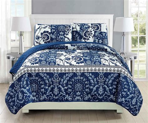 blue patterned bedspread white and blue floral bedding and other beautiful print design