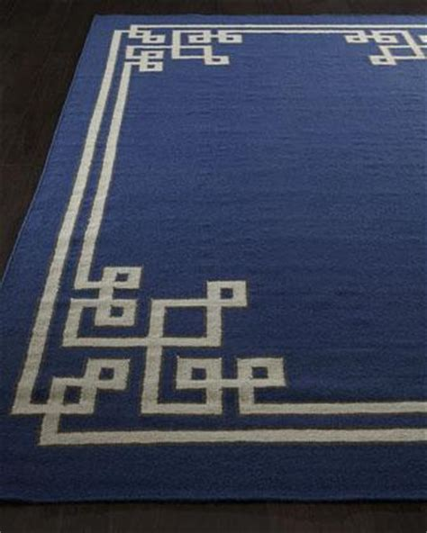 blue key rug damara rug i horchow