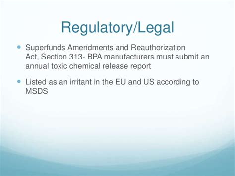 section 313 chemicals bpa presentation