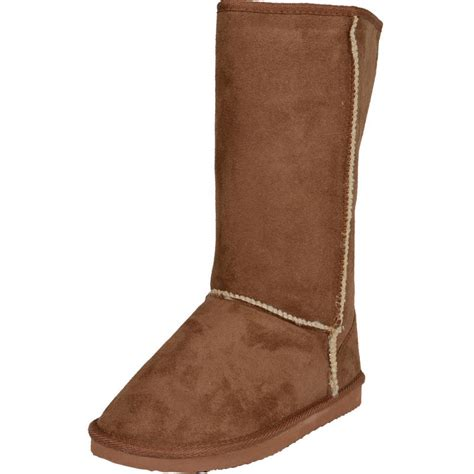 ego boots ego snugg faux sheepskin flat boots with faux