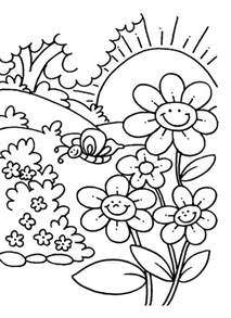coloring pages for children color pages for nature animals and food