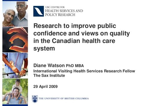 Hospital Management Mba In Canada by Diane Watson Research To Improve Confidence And