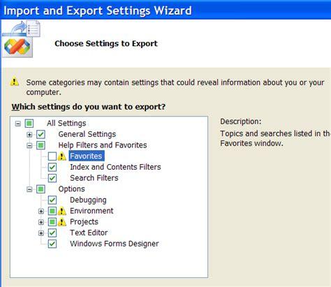 reset visual studio 2005 settings how to backup your visual studio 2005 settings
