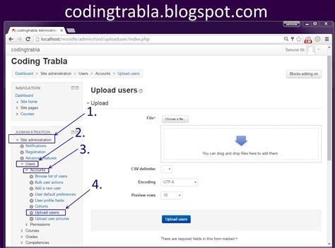 Csv Format Moodle | codingtrabla moodle 3 1 1 upload users from csv file